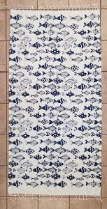 Telo mare pareo fouta in cotone con frange 90x180 cm SKIPPER FISH