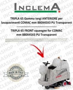 TRIPLA 65 Gomma tergi ANTERIORE per lavapavimenti COMAC (tergi da 830mm)