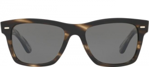 Oliver People's - Occhiale da Sole Unisex, Oliver Sun, Cinder Cocobolo/Grey OV5393SU 1612/R5  C51