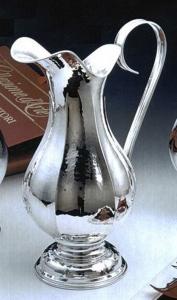 Brocca placcata Argento con base stile Settecento cm.30h