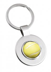 Portachiavi pallina tennis cm.7,8x3,5x1h