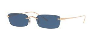 Oliver People's - Occhiale da Sole Unisex, Daveigh, Soft Rose Gold/Blue Shaded OV1243S 5037/80  C54
