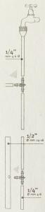 Micro-tee 1/4 per tubi diam.4-6