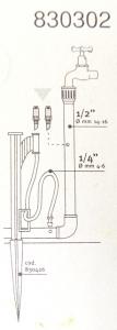 Microirrigatore 180° da 1/4