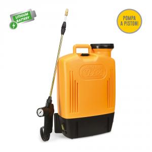 Pompa a zaino elett. Elettroplus lt.15 con batteria ricaricabile 12 Volt
