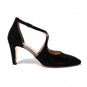 Sandalo elegante nero Melluso
