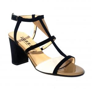 Sandalo nero/bianco/terra Luzzi