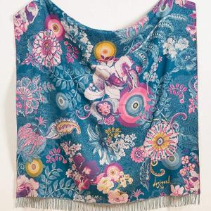 Desigual morbido plaid Paisley Bloom 160x170 cm in acrilico multicolore