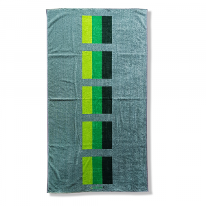 Beach towel pure cotton terry Carrara MALDIVE green