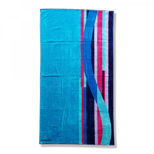 Beach towel pure cotton terry Carrara MILOS blue