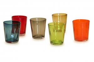 Bicchieri Tumbler colori assortiti 6 pezzi collezione Bei CL 32 cm.10h diam.87