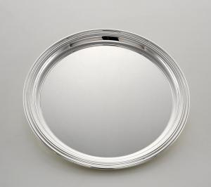 Piatto tondo placcato argento stile Inglese cm.diam.24