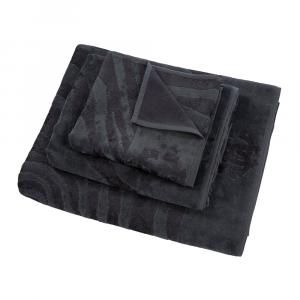 Roberto Cavalli hand  towel+bath towel ZEBRAGE  - charcoal
