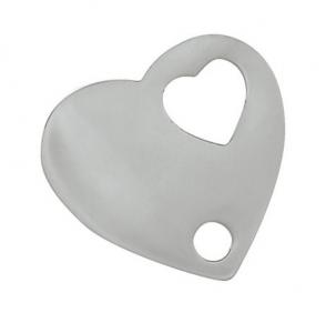 Charm cuore cromato cm.2x2x0,2h