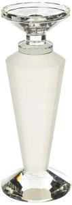 Candelabro in cristallo base tonda piccolo satinato cm.28h diam.11