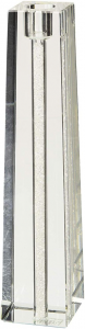 Candelabro in cristallo singolo glitter cm.5x5x18h