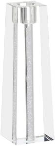 Candelabro in cristallo singolo glitter piccolo cm.5x5x12h