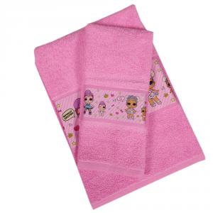 Coppia di spugne asciugamano e ospite bambina rosa bamboline LOL SURPRISE