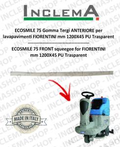 ECOSMILE 75 Gomma Tergi ANTERIORE per lavapavimenti FIORENTINI (squeegee a V)