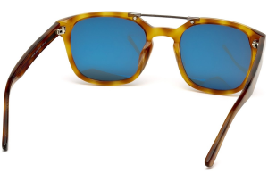 Web - Occhiale da Sole Uomo, Blonde Havana/Blue Shaded WE0156 5153V C51