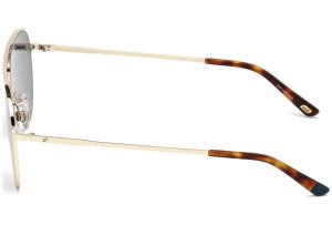 Web - Occhiale da Sole Unisex, Shiny Rose Gold/Blu Mirror WE0206 28X C58
