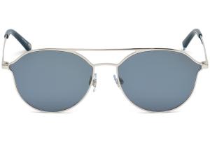 Web - Occhiale da Sole Unisex, Shiny Palladium/Blu Mirror WE0208 16X C59