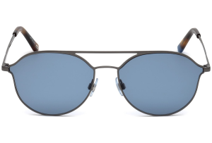 Web - Occhiale da Sole Unisex, Shiny Gumetal/Blu Mirror WE0208 08V C59