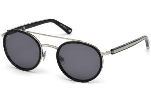 Web - Occhiale da Sole Unisex, Shiny Black/Smoke Mirror WE0225 01A C52