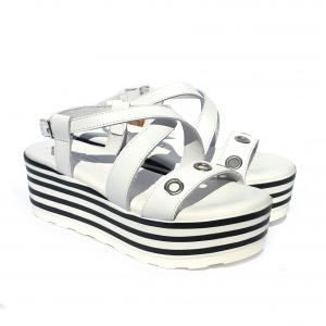 Sandalo bianco Raquel Perez