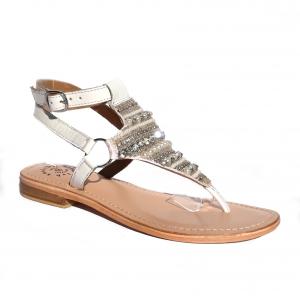 Sandalo infradito bianco Adriana del Nista