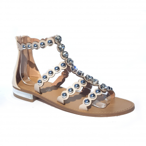 Sandalo nero o nudo con borchie Gardini