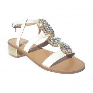 Sandalo bianco o cammello Gardini