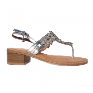 Sandalo infradito argento Gardini