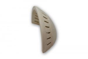 Applique in pietra leccese con righini e fori in fasce verticali - lampada da parete in pietra