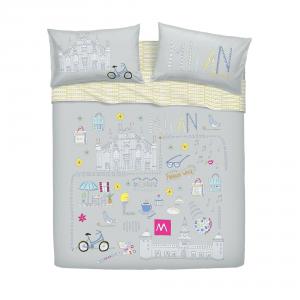 Bassetti Bettwäsche für Einzelbett MILANO von Kate Neckel 100 Baumwolle