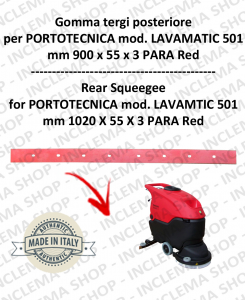 LAVAMATIC 501 B GOMMA TERGI posteriore per lavapavimenti PORTOTECNICA
