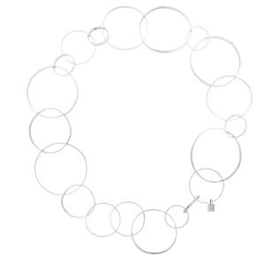 Catena corta Circles in argento 925