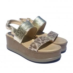 Sandalo platino/maculato Nero Giardini