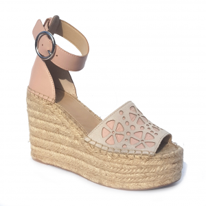 Sandalo blush con zeppa Guess