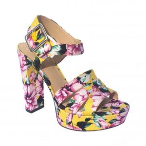 Sandalo giallo/floreale Guess