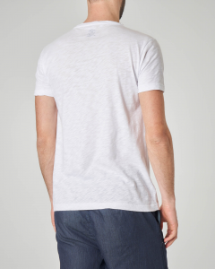 T-shirt bianca con stampa scritte e logo