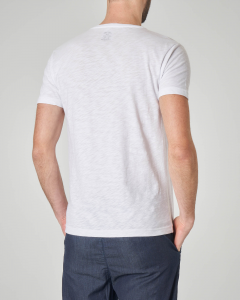 T-shirt bianca con stampa bici e scritta Never stop exploring