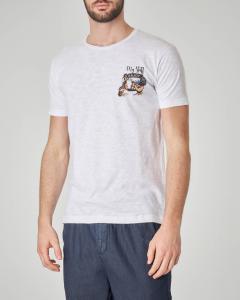 T-shirt bianca con stampa Vespa