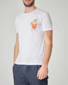 T-shirt bianca con stampa tequila sunrise