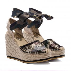 Sandalo camouflage con zeppa Replay