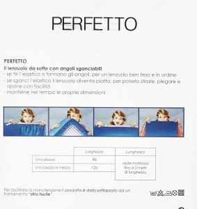 Bassetti PERFETTO Lenzuolo con angoli sganciabili singolo h.30