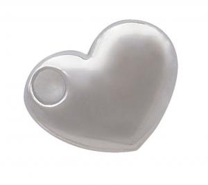 Charm cuore cromato cm.1,5x1,2x0,2h