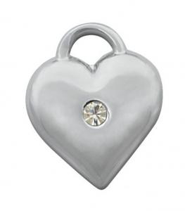 Charm cuore cromato cm.1,5x1,8x0,2h