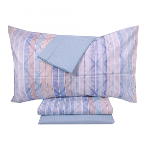 Set lenzuola singole 1 piazza con 2 federe ZUCCHI Basics Tonic azzurro