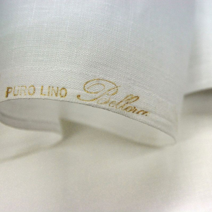 Bellora Tessuti in puro lino bianco alto 2.70 m bianco Tessuto in metratura 100% Lino
